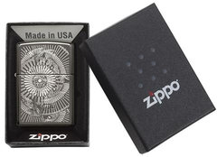 Zippo Asian Floral Black Ice 5
