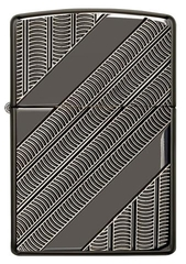 Zippo Armor Coils Deep Carved Black Ice Chrome 1