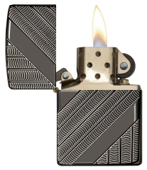 Zippo Armor Coils Deep Carved Black Ice Chrome 2