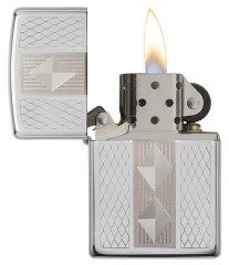 Zippo Diamond Grill High Polish Chrome 2