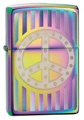 Zippo Rivet Peace Sign Spectrum