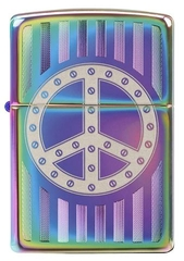 Zippo Rivet Peace Sign Spectrum 1