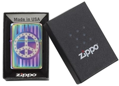 Zippo Rivet Peace Sign Spectrum 4