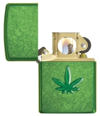 Zippo Leaf Design Pocket Lighters 29673 2