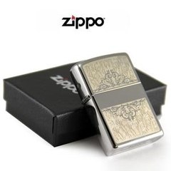 Zippo Filigree Initial Polished Chrome 4