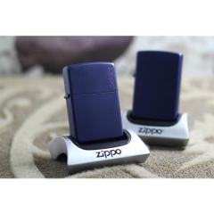 Zippo Navy Matte with Logo 5