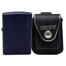 Zippo Navy Matte with Logo 6