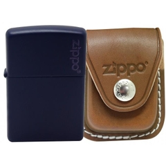 Zippo Navy Matte with Logo 7