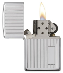 Zippo Engine Turned Polished Chrome 2