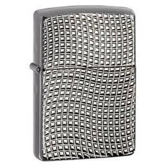 Zippo Cross Wave Ridge Armor High Polish Black Chrome 28544