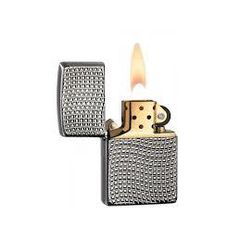 Zippo Cross Wave Ridge Armor High Polish Black Chrome 5