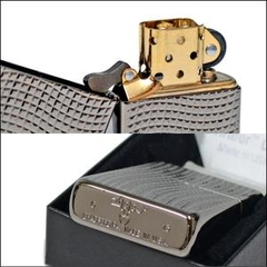 Zippo Cross Wave Ridge Armor High Polish Black Chrome 3