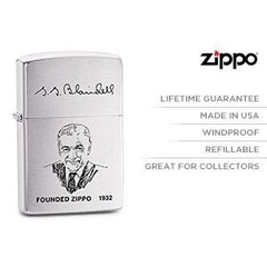 Zippo Founder's Lighter Brushed Chrome 4