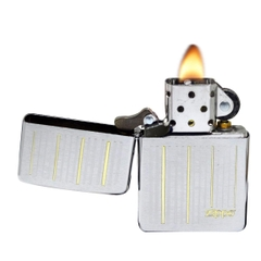 Zippo Lines Brushed Chrome 4