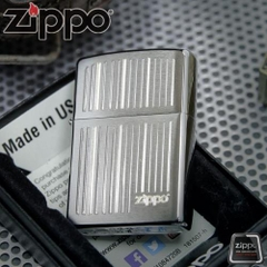 Zippo Lines Brushed Chrome 5