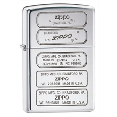 Zippo Bottom Stamps Polished Chrome