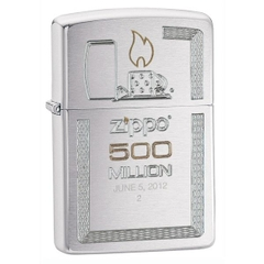 Zippo Limited Edition Gift Set 500 Million Zippo Replica Edition Brushed Chrome