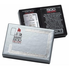 Zippo Limited Edition Gift Set 500 Million Zippo Replica Edition Brushed Chrome 3