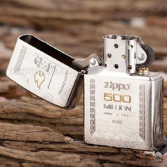 Zippo Limited Edition Gift Set 500 Million Zippo Replica Edition Brushed Chrome 5