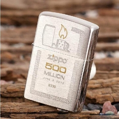 Zippo Limited Edition Gift Set 500 Million Zippo Replica Edition Brushed Chrome 6