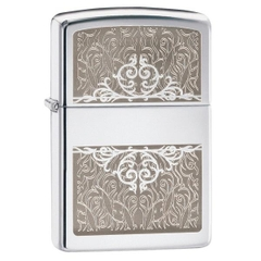 Zippo Filigree Initial Polished Chrome
