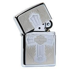 Zippo Harley Davidson Cross Polished Chrome 4
