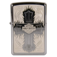 Zippo Harley Davidson Cross Polished Chrome