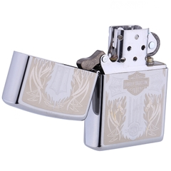 Zippo Harley Davidson Cross Polished Chrome 1