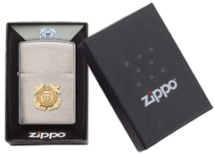 Zippo US Coast Guard Emblem Brushed Chrome 4