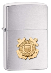 Zippo US Coast Guard Emblem Brushed Chrome