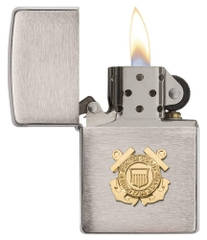 Zippo US Coast Guard Emblem Brushed Chrome 2