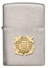 Zippo US Coast Guard Emblem Brushed Chrome1