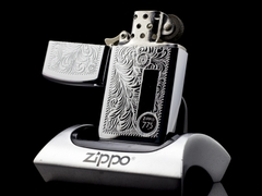 Zippo Cổ Slim Floral 7 gạch 1975 8