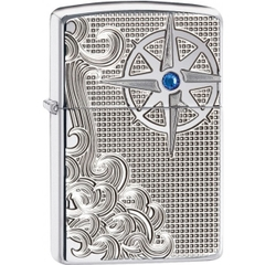Zippo Armor Luxury Waves High Polish Chrome