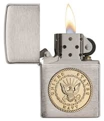 Zippo US Navy Emblem Brushed Chrome 1