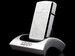 Zippo Cổ Slim Floral 7 gạch 1975 5