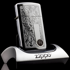 Zippo Cổ Slim Floral 7 gạch 1975