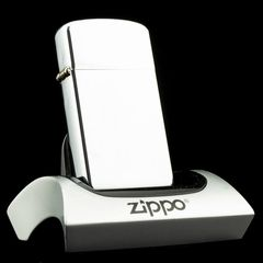 Zippo Used Slim High Polished Chrome Vietnam War 1965 - Đã Qua Sử Dụng
