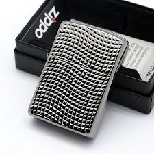 Zippo Cross Wave Ridge Armor High Polish Black Chrome 6