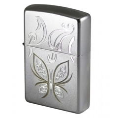 Zippo Golden Butterfly Satin Chrome 1