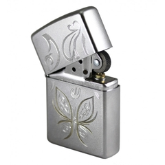 Zippo Golden Butterfly Satin Chrome 3