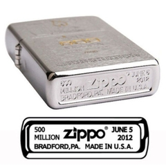 Zippo Limited Edition Gift Set 500 Million Zippo Replica Edition Brushed Chrome 2