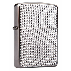 Zippo Cross Wave Ridge Armor High Polish Black Chrome 1