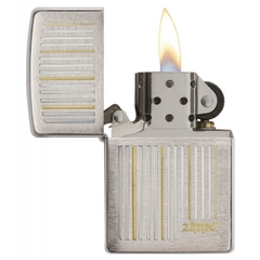 Zippo Lines Brushed Chrome 1