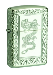 Zippo Armor® High Polish Green Elegant Dragon 49054