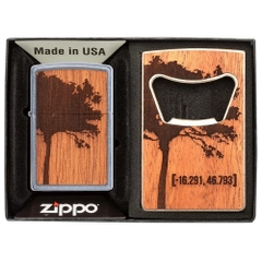 Zippo WOODCHUCK USA Lighter & Bottle Opener Gift Set 49066