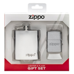 Zippo Flask & Lighter Gift Set 49098