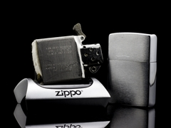 Zippo Cổ Brushed Chrome 1960 6 Chấm 7