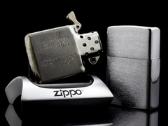 Zippo Cổ Brushed Chrome 1962 4 Chấm  8