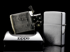 Zippo Cổ Brushed Chrome 1968 6 Gạch  9